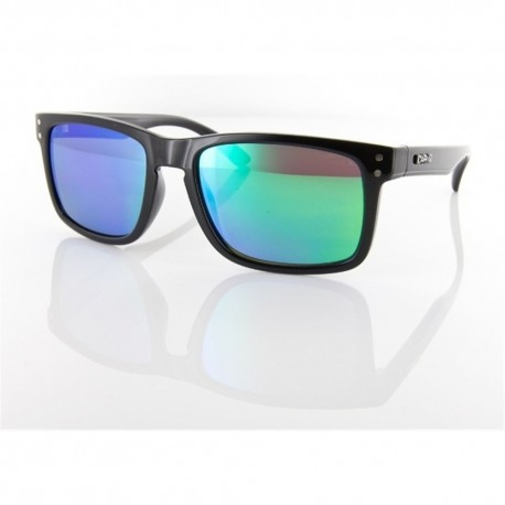 Globin Black / Green Revo Sunglasses